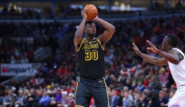 Randle se mantiene como uno de los pilares del futuro para los Lakers | Foto: nba.com/lakers
