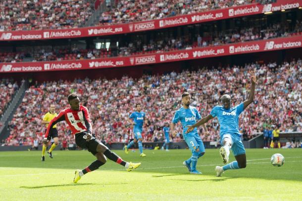 Williams en un partido de La Liga - Athletic Club