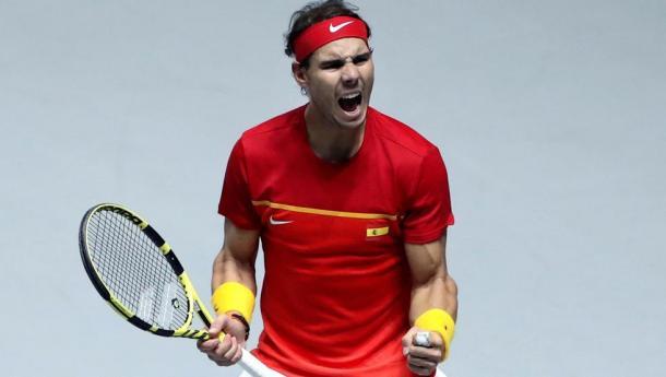 Rafa Nadal ha sostenido a España durante toda la semana | Foto: Copa Davis