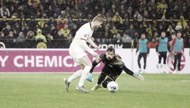 Werner empata em 2-2 - Foto: Twitter @RBLeipzig_EN