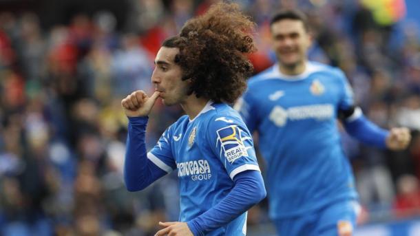 Marc Cucurella celebrando un gol con el Getafe | Fuente: EFE