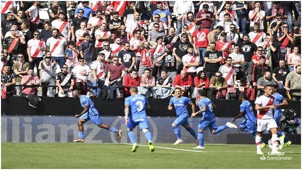 Celebración de uno de los goles del Getafe // Fotografía: La Liga