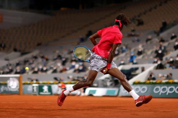 There's lone highlight in the match was this tweener/Photo: Gonzalo Fuentes/Reuters