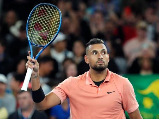 Kyrgios at this year's Australian Open/Photo: Andy Brownbill/Associated Press