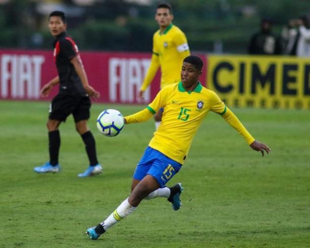 Andrey em ação pela seleção brasileira de base. (Foto: Reprodução)