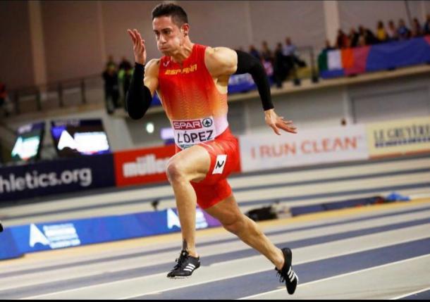 Sergio durante el Campeonato de Europa de Glasgow.