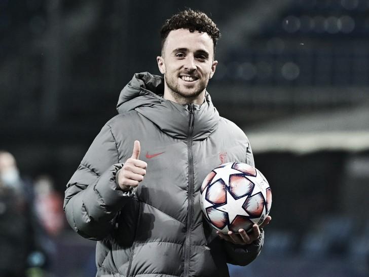 Jota se quedó con el balón / Foto: Liverpool