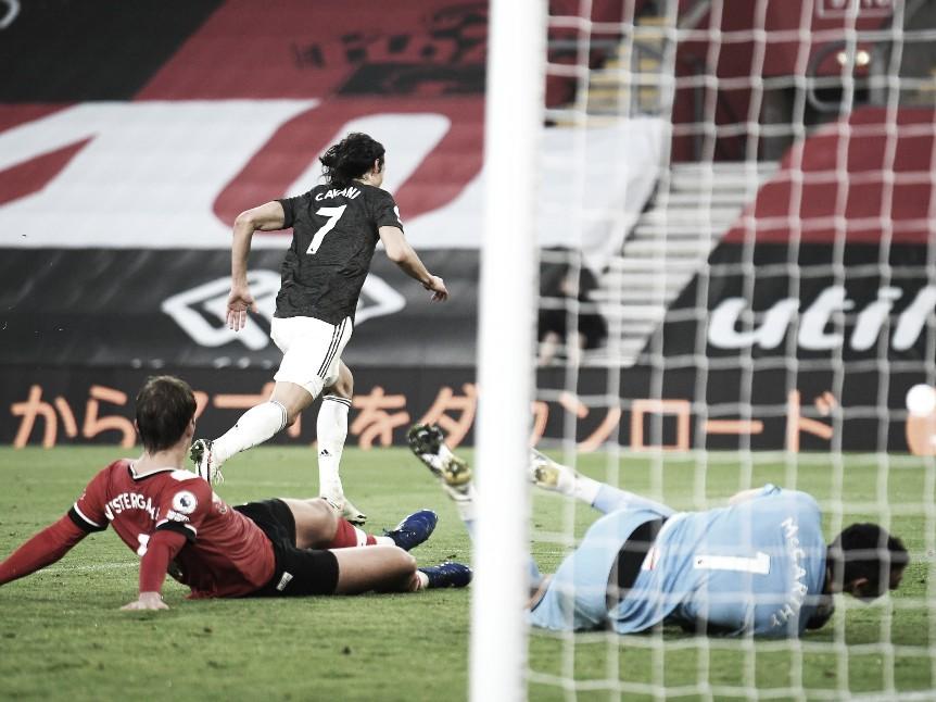 Cavani y una tarde goleadora | Foto: Premier League