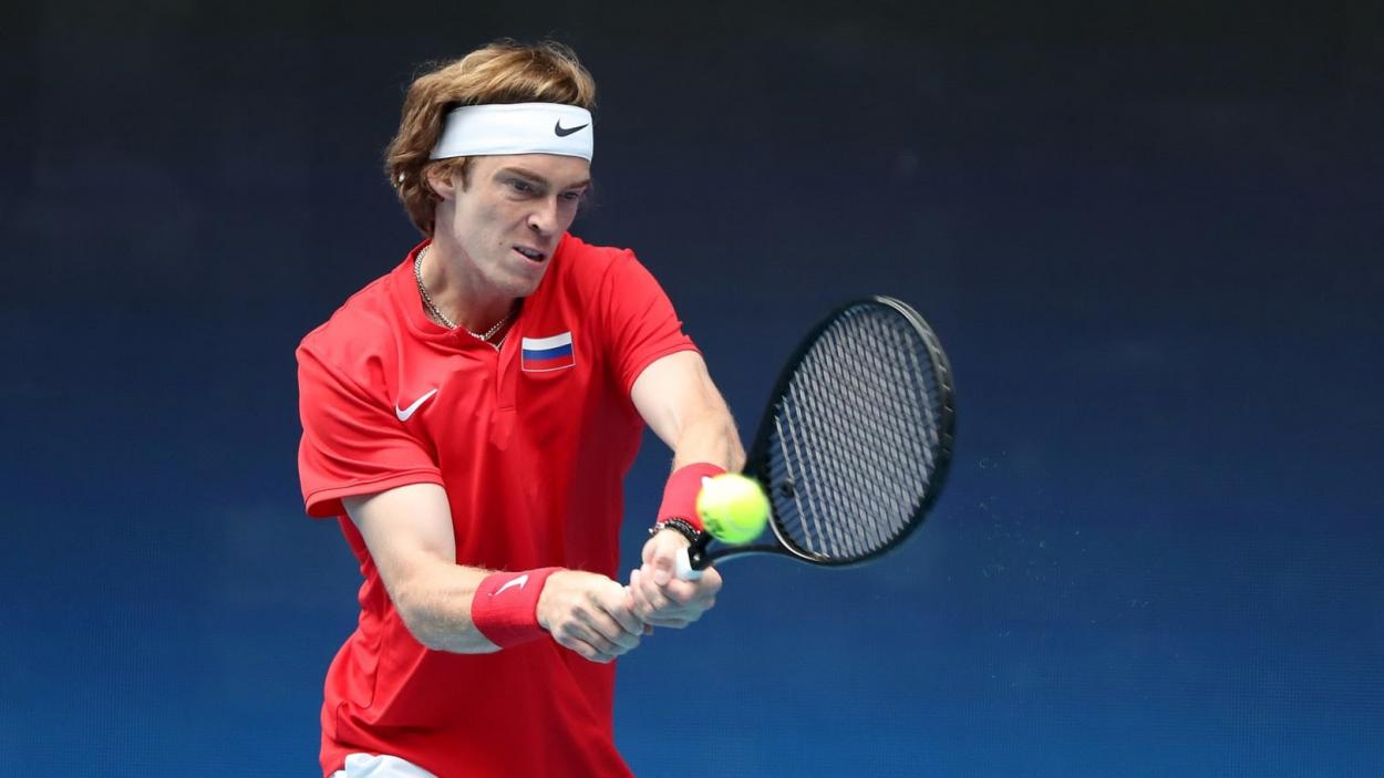 Rublev helped lead Russia to the ATP Cup title/Photo: Graham Denholm/Getty Images