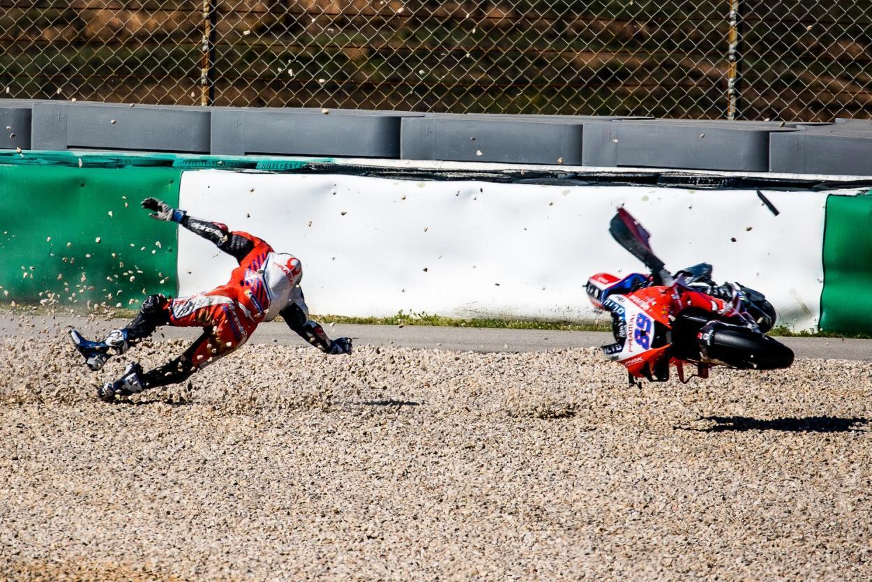 La caída de Jorge Martín, que le mantuvo alejado de los circuitos durante casi dos meses. Imagen: MotoGP