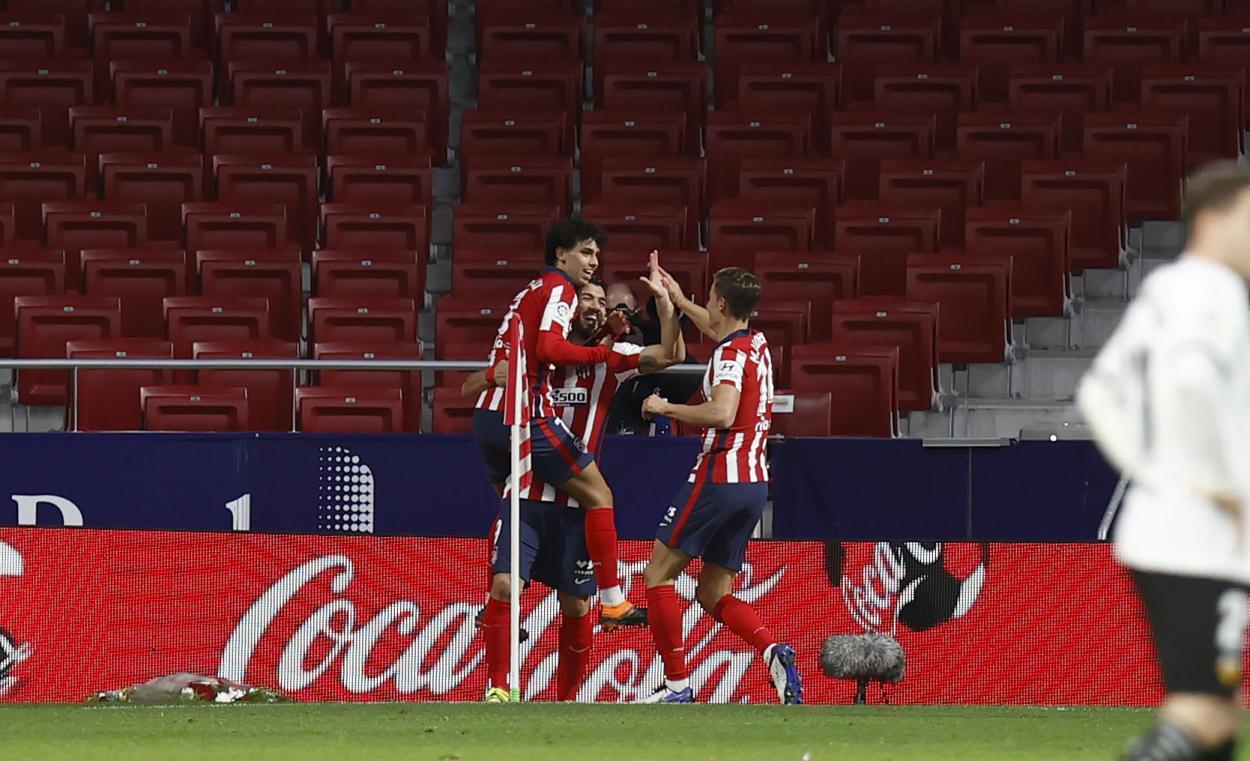 El Atlético viene de remontar 3-1 al Valencia en el Wanda Metropolitano./Twitter: Atlético de Madrid oficial