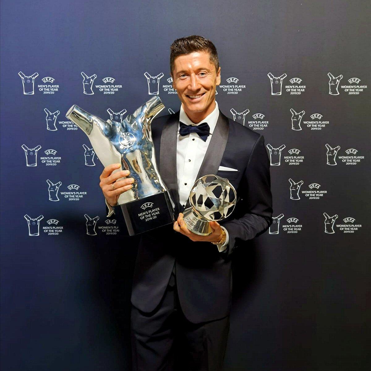 Lewandowski, el mejor jugador del año. / Twitter: Robert Lewandowski oficial