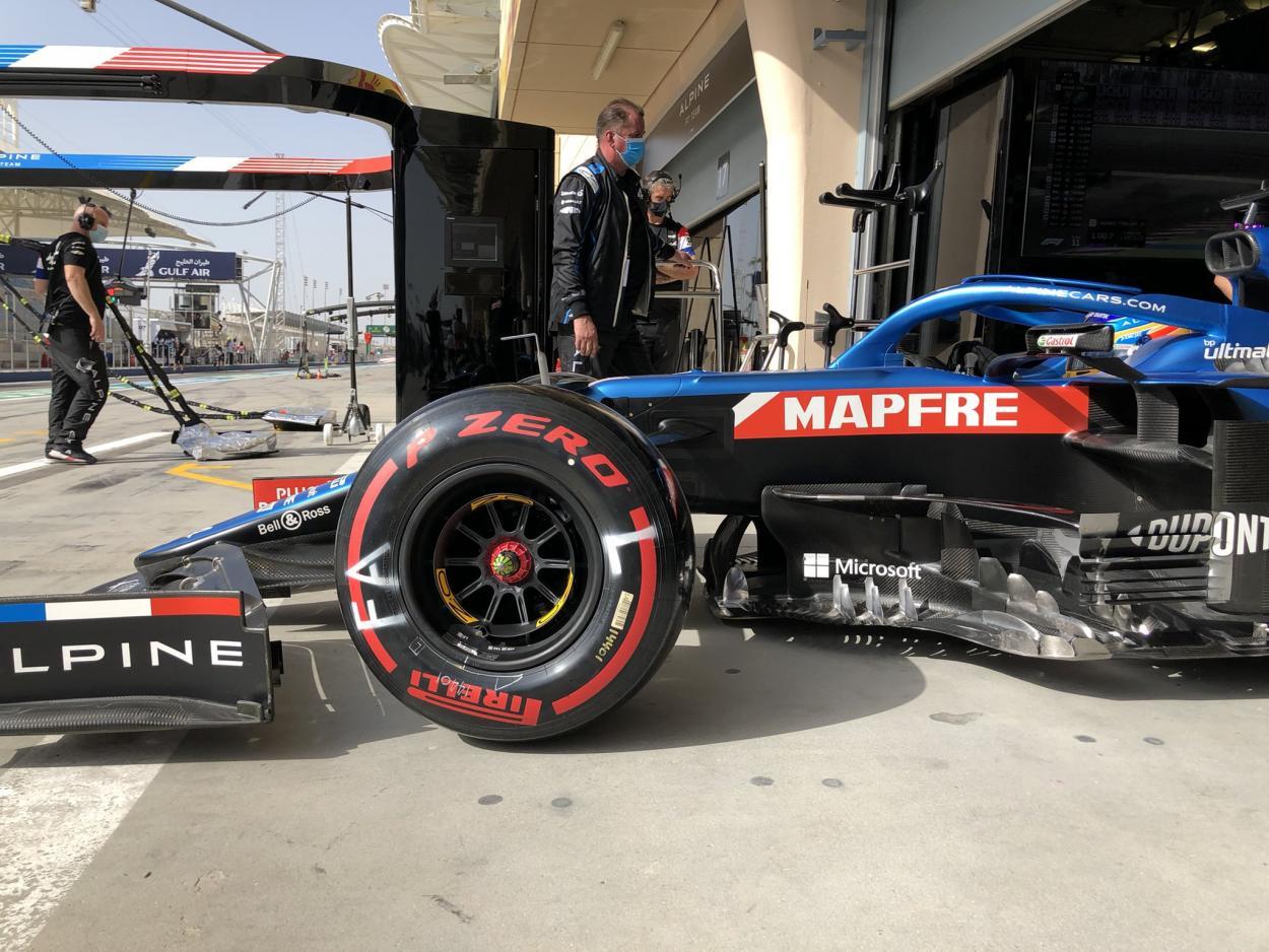 Alonso en el Alpine. Foto: F1