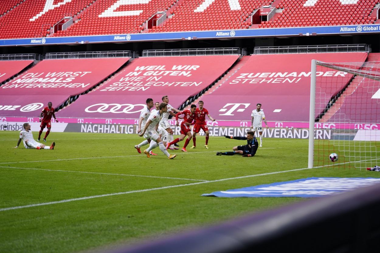 Musiala fue el encargado de marcar el gol en el Bayern Múnich. /Twitter: Bayern Múnich oficial