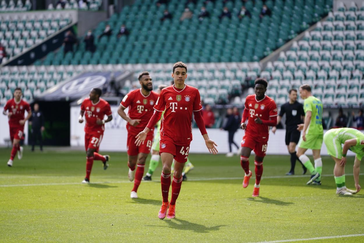 Musiala abrió el marcador para el Bayern Múnich. /Twitter: Bayern Múnich oficial