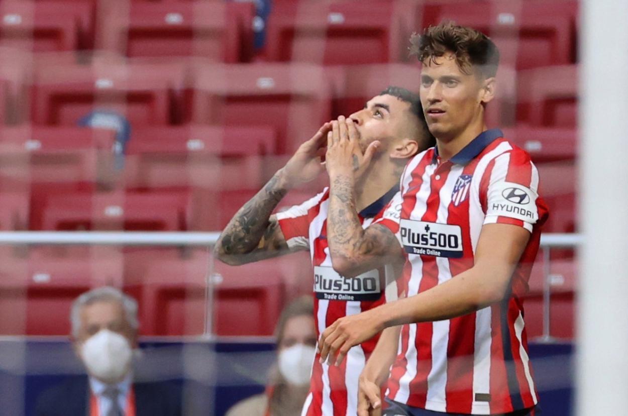 Ángel Correa abrió el marcador para el conjunto rojiblanco./Twitter: Atlético de Madrid oficial