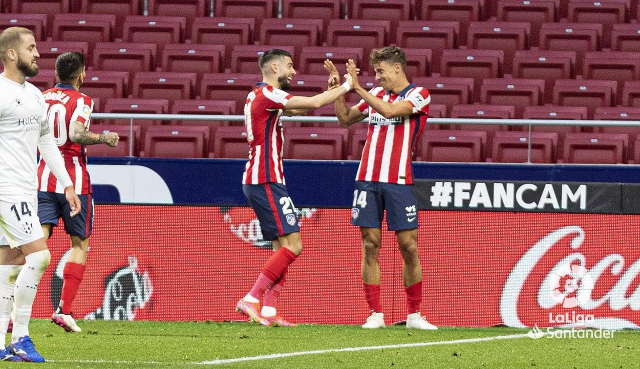 Carrasco metió el segundo gol tras un gran pase de Llorente. /Twitter: LaLiga oficial