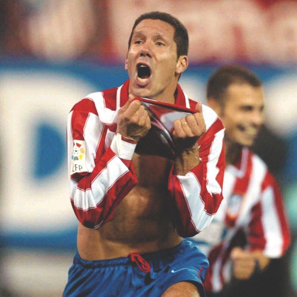 Diego vistiendo la rojiblanca./ Twitter: Diego Pablo Simeone oficial