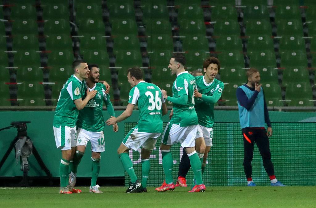 Bittencourt marcó el gol del empate. /Twitter: DFB Pokal oficial