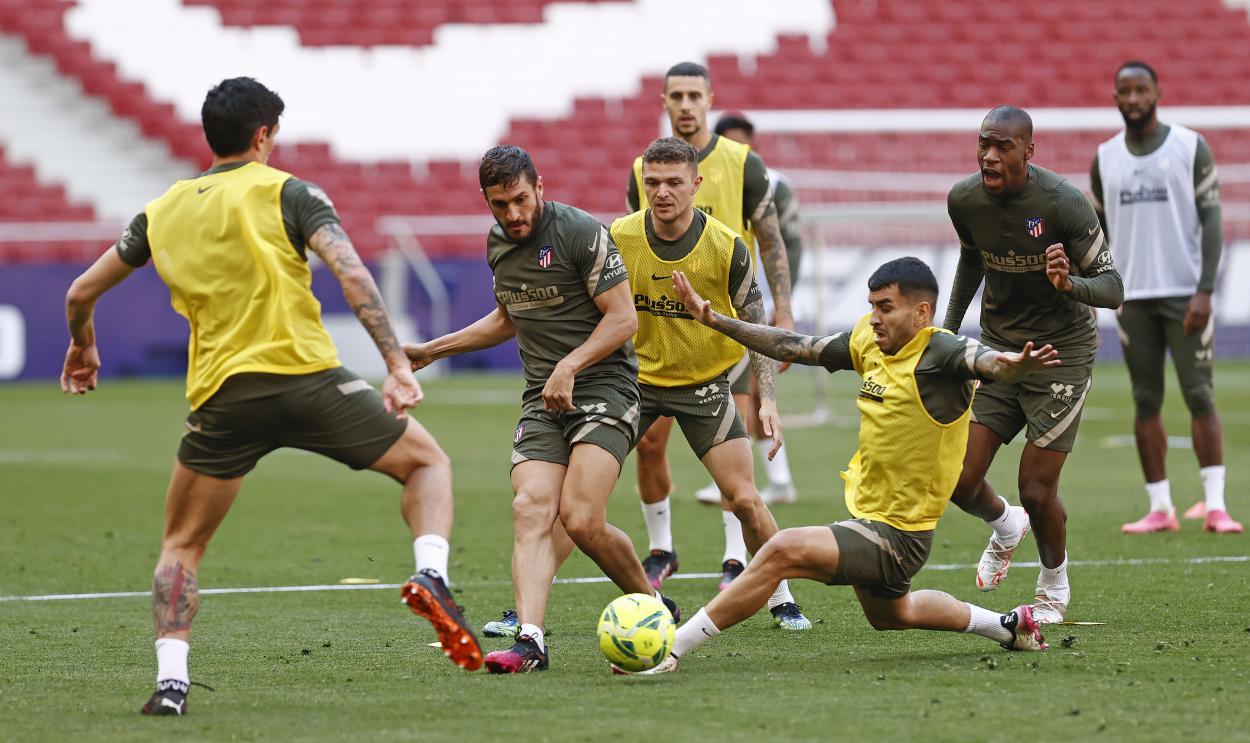 El Atlético de Madrid entrenó de cara al PARTIDAZO del día sábado. /Twitter: Atlético de Madrid oficial
