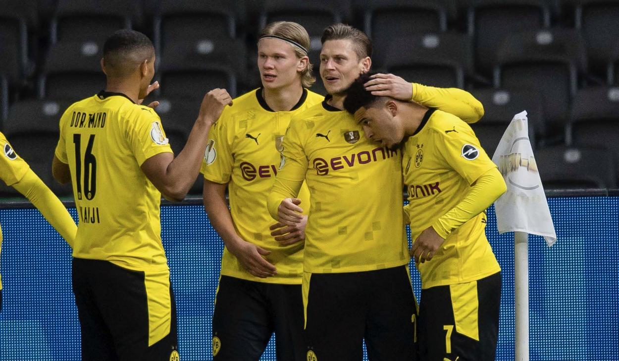 Sancho y Haaland, los goleadores de la noche. /Twitter: Borussia Dortmund oficial