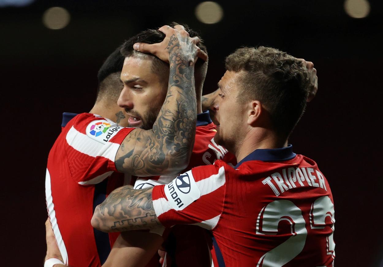 Carrasco y Correa fueron los autores de los goles en el equipo colchonero. /Twitter: Atlético de Madrid oficial