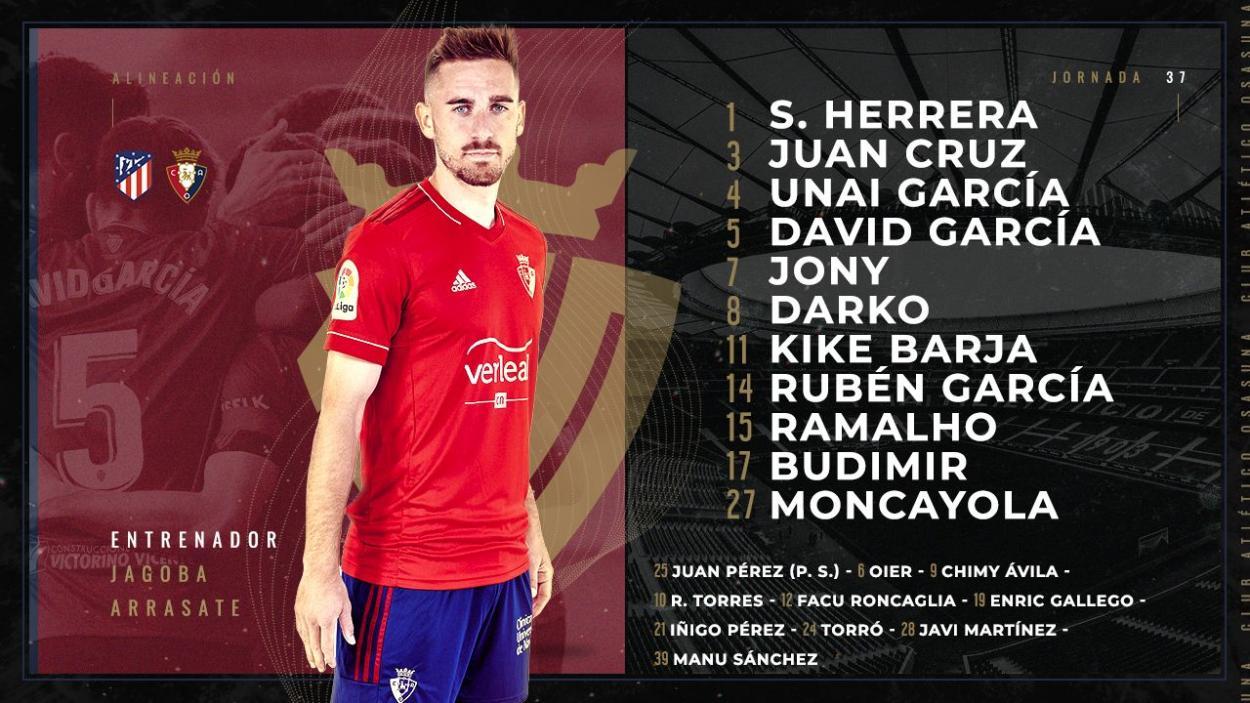 Twitter: CA Osasuna oficial