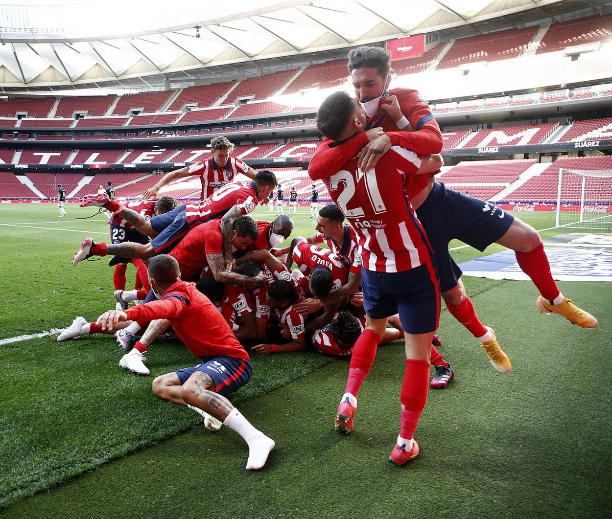 El Atlético de Madrid está a solo una victoria de consagrarse campeón. /Twitter: Atlético de Madrid oficial