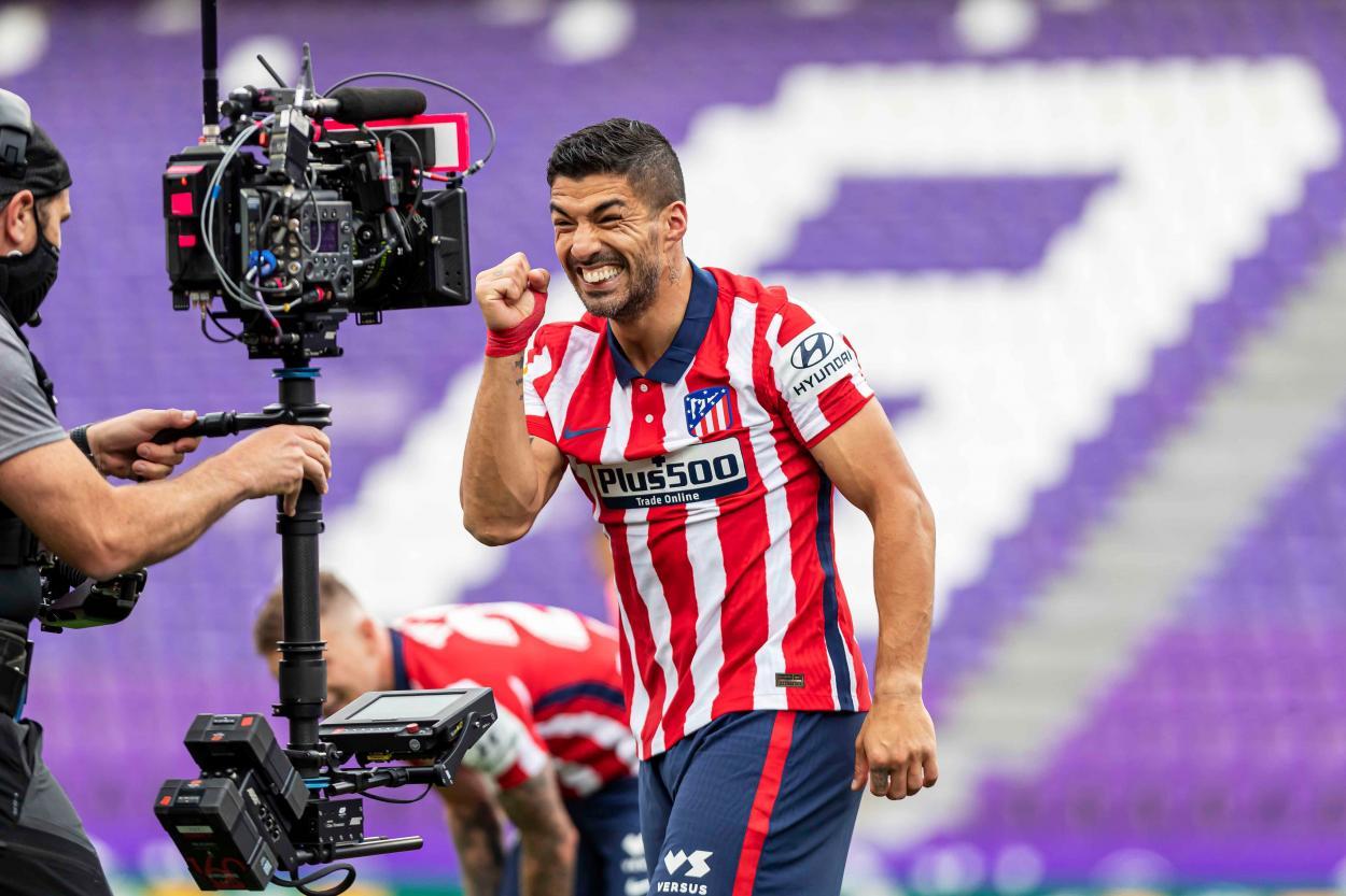 Suárez marcó el gol del campeonato./Twitter: LaLiga oficial