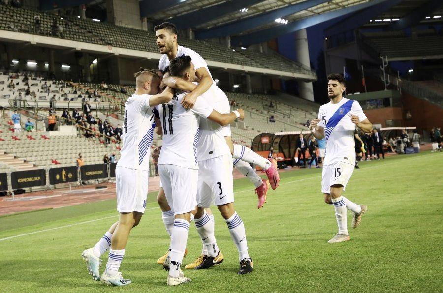 Tzavelas consiguió el empate al minuto 66 del duelo. /Twitter: Ethniki Omada oficial