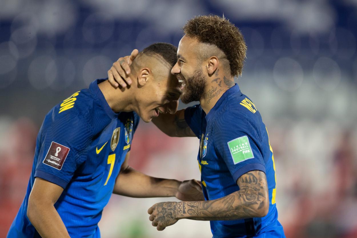 Neymar comemorando o primeiro gol (Foto: Divulgação/CBF)