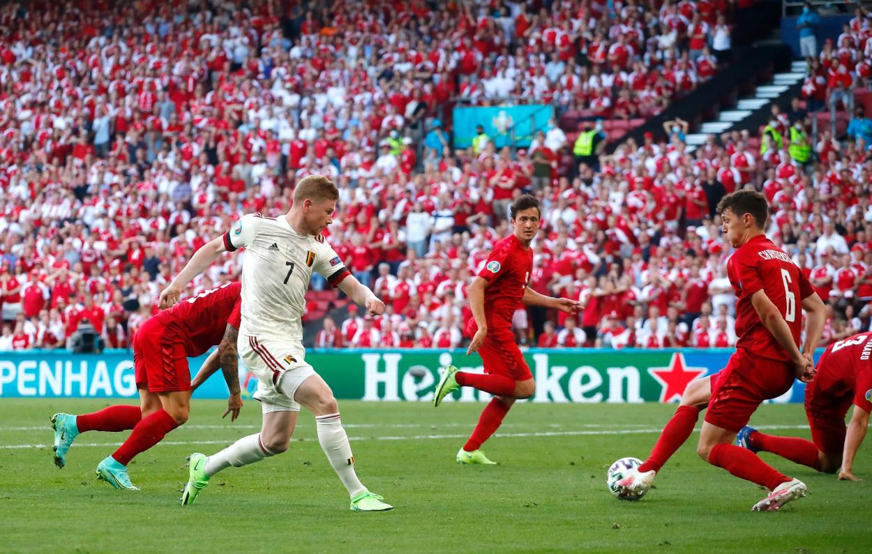 Kevin De Bruyne, jugador que revolucionó el duelo. /Twitter: UEFA Euro2020