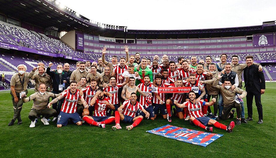 El Atleti se consagró campeón tras vencer 1-2 al Valladolid. / Twitter: Atlético de Madrid oficial