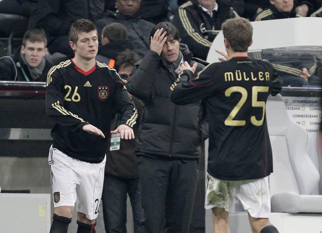 Toni el día de su debut. /Twitter: Selección Alemana oficial