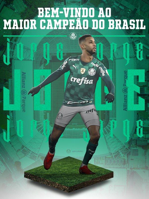 A arte de anúncio do lateral (Arte: Palmeiras)