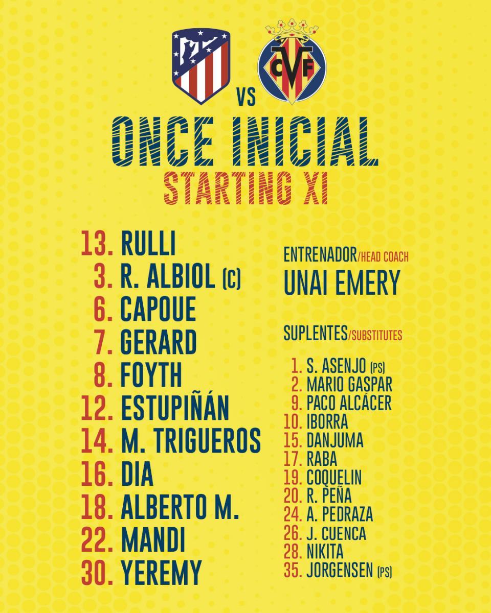 Twitter: Villarreal CF oficial