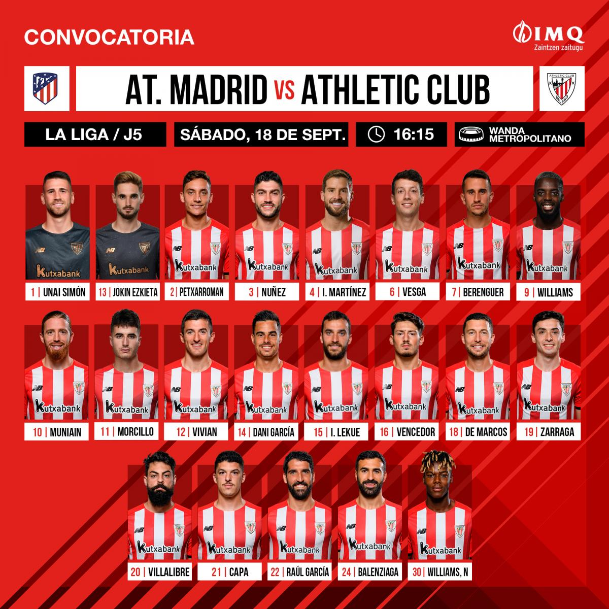 Twitter: Athletic Club oficial