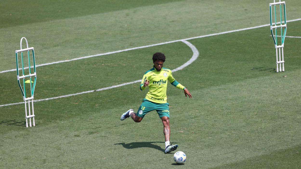 Luiz Adriano em treinamento (Foto: Cesar greco/Divulgação/Palmeiras)