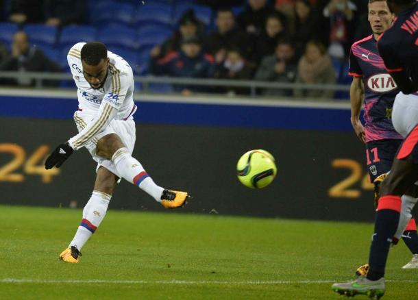 Alexandre Lacazette during a match against Bordeaux | Photo: Ligue 1