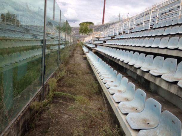 Estado actual de las gradas del Flaminio. / Foto: repstatic.it