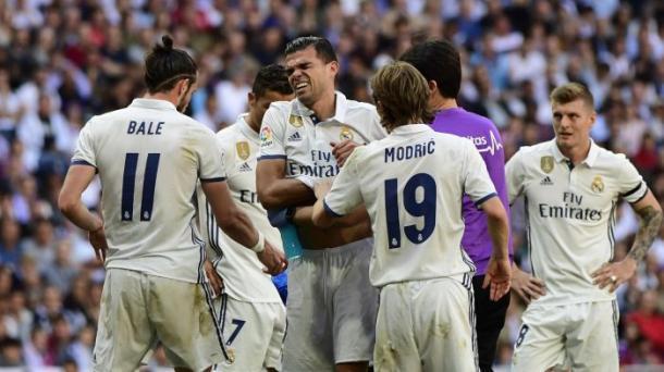 Pepe, protagonista nel match di campionato con una rete, ma costretto a saltare questa semifinale per via di un infortunio (con lui, ko anche Bale). Fonte foto: it.eurosport.com