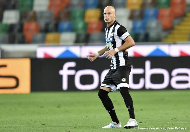 Nuytinck, la prima novità che troverà spazio dal primo minuto. Fonte: www.facebook.com/UdineseCalcio1896