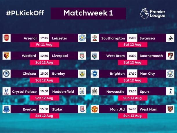 Primera jornada (Foto: Premier League)