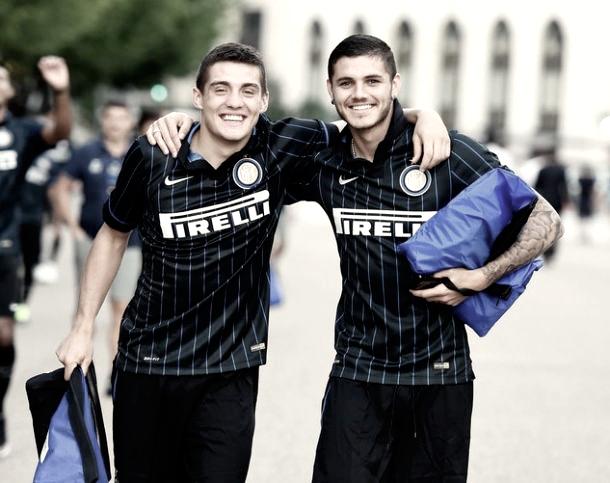Kovacic junto a su ex compañero de equipo, Mauro Icardi   Foto: Inter de Milán