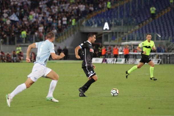Borriello contro la Lazio. Fonte: https://www.facebook.com/SpalCalcioFerrara