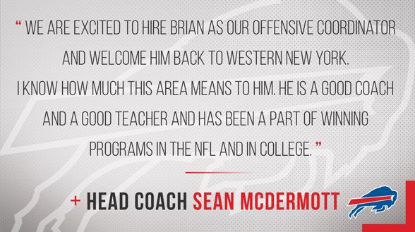 Bills head coach Sean McDermott's statement on the hiring of Daboll (BIlls.com)