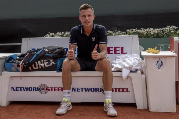 Marton Fucsovics had the best week of his career in Geneva, leading to a new career-high ranking. Photo: Geneva Open