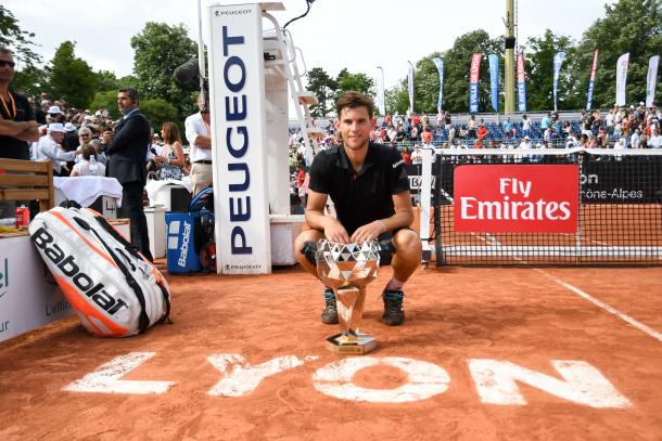 Dominic Thiem won his finally warm up event in Lyon last week. Photo: Lyon Open