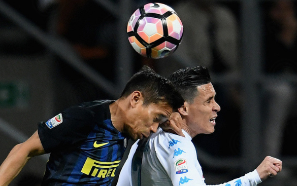 El Napoli ha tenido superioridad sobre el Inter.   Foto: Lega Serie A