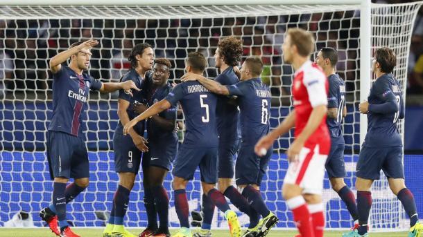 Il gol di Cavani dopo 42 secondi - Fonte:Sportmediaset